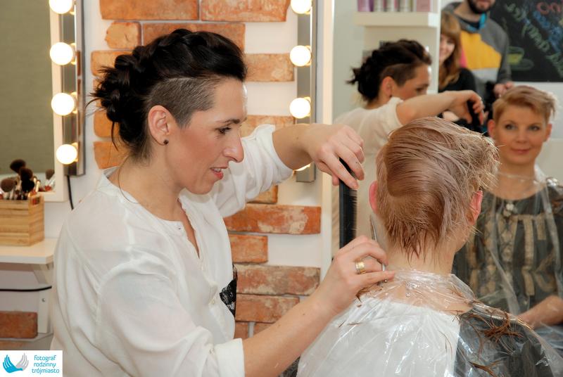 Reportaż sesja fryzjerska Fotograf Rodzinny Trójmiasto